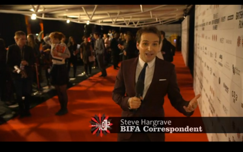 Steve on the BIFA Red Carpet